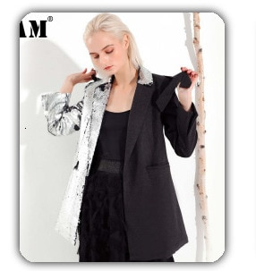 [EAM] Women Two Piece Blouse Strap Black Button New Lapel Long Sleeve Loose Fit Shirt Fashion Tide Spring Autumn 2021 1A182
