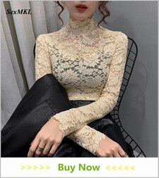 White Lace Blouse Women 2020 Casual Long Sleeve Sexy Shirt Summer Elegant Transparent Hollow Out Clothes Ladies Tops Black