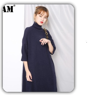 [EAM] Women White Linen Brief Big Size Blouse New Lapel Long Puff Sleeve Loose Fit Shirt Fashion Tide Spring Autumn 2021 A569