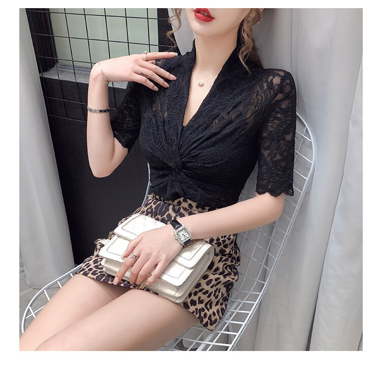 Womens Summer Tops and Blouses 2020 Fashion Transparent Sexy Lace Blouse Women Clothes Hollow Out Korean Elegant White Blouse