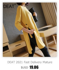DEAT 2021 New Autumn Fashion Women blouse Pullover Patchwork Ruffle Full Sleeve Round Collar High Street Button Loose TX914