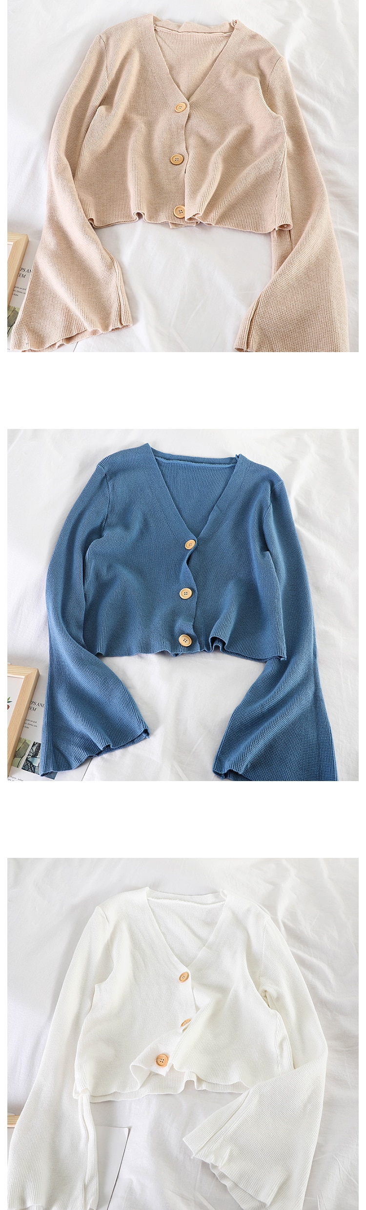 HELIAR Women Knitted Buttoned Up Casual Lantern Sleeve Stretchy Blouse Fashion knitting Slim Elastic Blouse Tops 2020 Autumn
