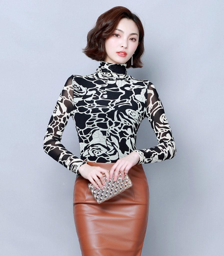 Plus Size Women Tops and Blouses 2020 Fashion Casual Long Sleeve Floral Printed Blouse Ladies Korean Autumn Office Winter Shirts