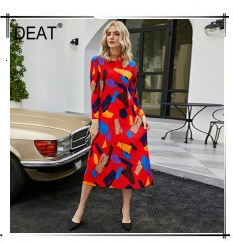 DEAT 2021 New Autumn Fashion Women's Pleated Shirts Solid Full Sleeve Stand Collar Casual Outdoor Heavy Fold Loose Slim TX590