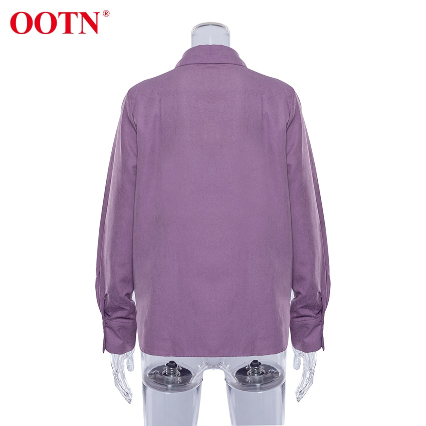 OOTN Autumn Winter Solid Casual Blouse Shirt Long Sleeve Loose Ladies Shirts Womens Tops And Blouses Office Workwear Top 2020