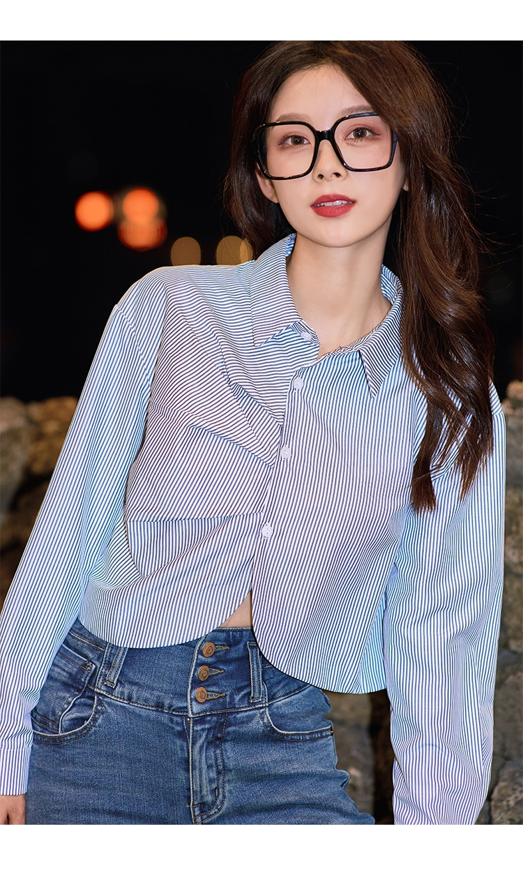 MISHOW 2020 Autumn Shirts For Women Casual Striped Tops Long Sleeve Office Lady Loose Shirt Female Fashion Clothing MX20C4324