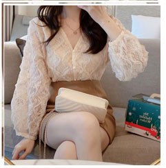 Korean Japan Style Clothes Chic Cute Tops Summer Puff Sleeve Preppy Style Girls Single Breasted Button White Shirts Women Blouse