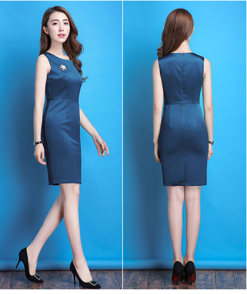 Naviu New Fashion Summer Womens Dress High Quality Formal Wear Office Lady Clothes