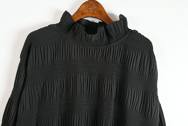 XITAO Pleated Dress Fashion New Women Pullover Knitted 2020 Elegant Small Fresh Casual Style Loose Solid Color Hem Dress ZY1348