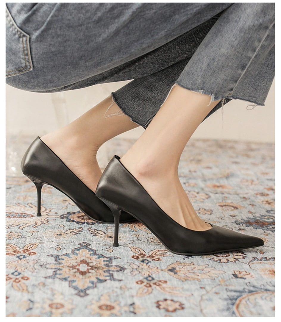 Pumps shoes Women  Fashion Office Basic High Heels Work Lady Shoes Black Pink Green Thin Heels Brand Point Toe 2021 New Spring